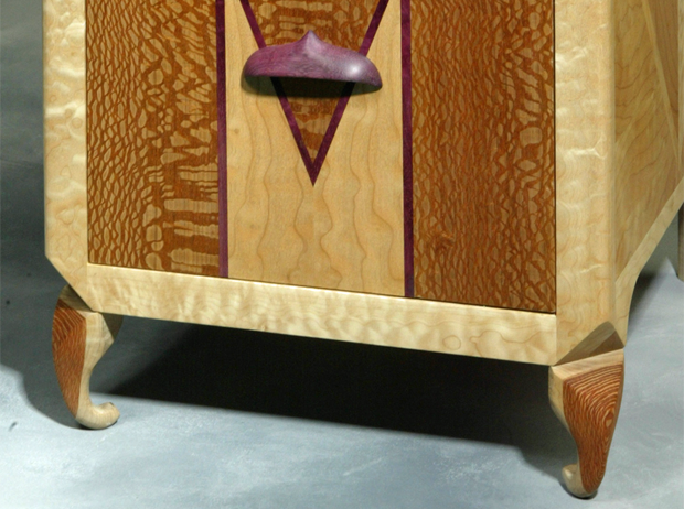 Modern Exotic Wood Custom Cabinet Unique Furniture
