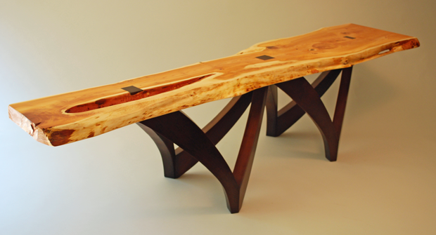 Organic Live Edge Benches Natural Wood Furniture : yewtable1 from www.scottstewartdesigns.com size 620 x 335 png 253kB